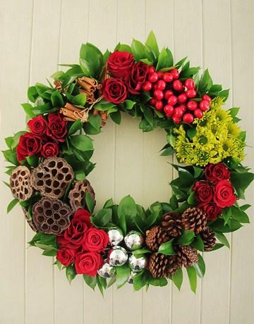 Christmas themed wreath
