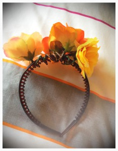 Flower crown in progress