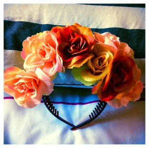 completed flower crown