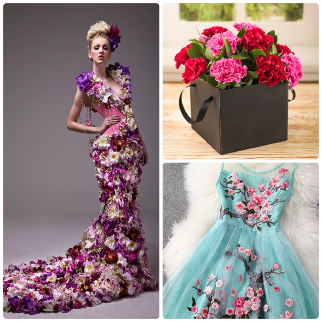 Spring flower trends 2014 flower dresses collage mightylinksfo