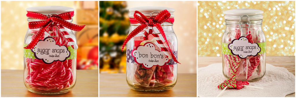 Delicious Christmas Candy Jars