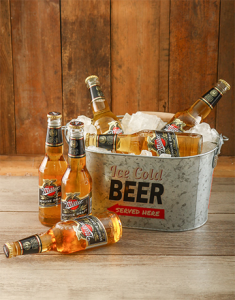 Miller Beer in a bucket for St Patrick's Day