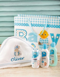Personalised Baby Boy towel hamper