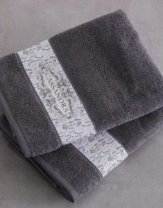 Domestic worker's gift personalised towels