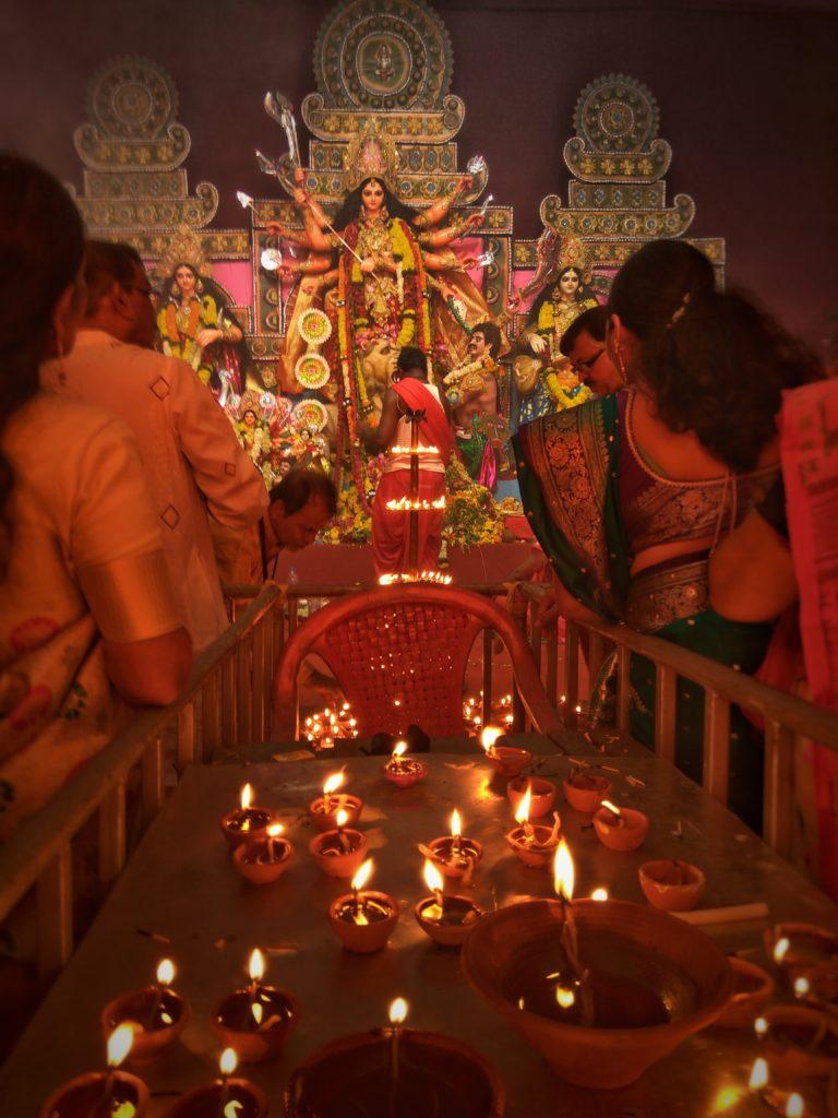 Worshipping on Diwali
