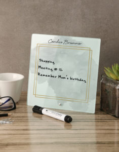 Button for personalised whiteboard