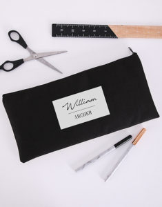 Button for personalised pencil case
