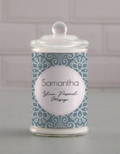 Personalised Candle button