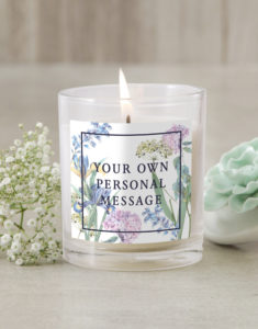 Personalised Bloom Candle button
