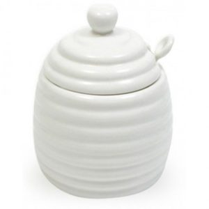 Maxwell And Williams White Honey Pot And Spoon button